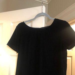 Black velvet short sleeve Jcrew shirt
